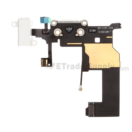 For Apple iPhone 5 Charging Port Flex Cable Ribbon Replacement - White - Grade S+
