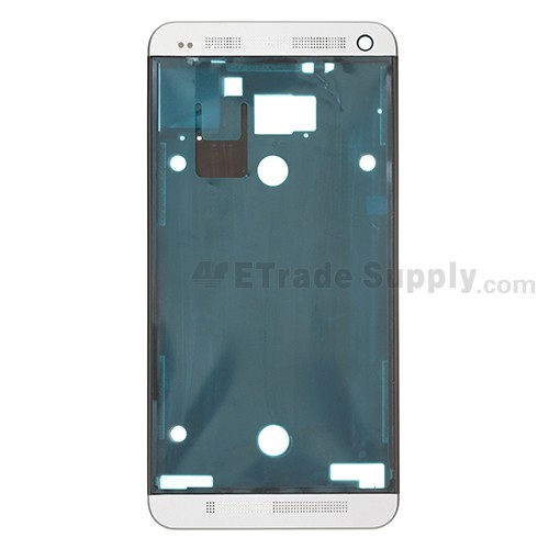 For HTC One Front Housing Replacement (International Version)  - White - Grade S+