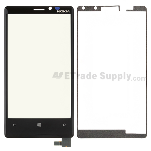 For Nokia Lumia 920 Digitizer Touch Screen with Adhesive Replacement - Without Logo - Grade S+