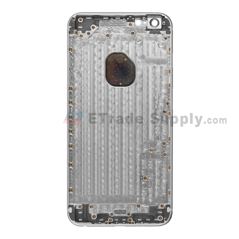 For Apple iPhone 6 Plus Rear Housing Replacement  - Gray - Without Words - Grade R