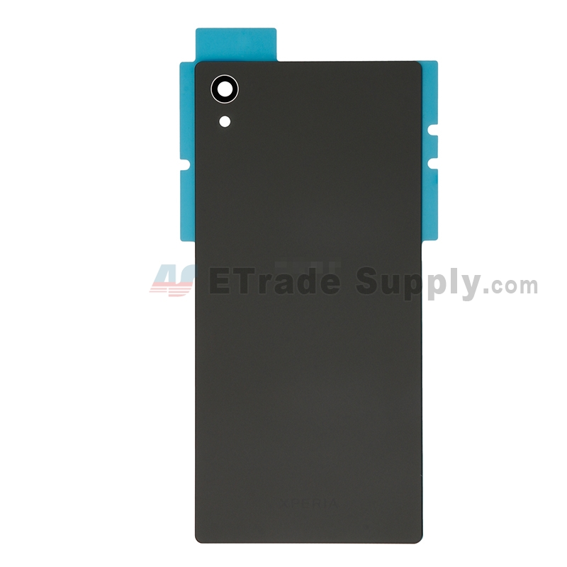 For Sony Xperia Z5 Battery Door Replacement - Black - With Logo - Grade S+