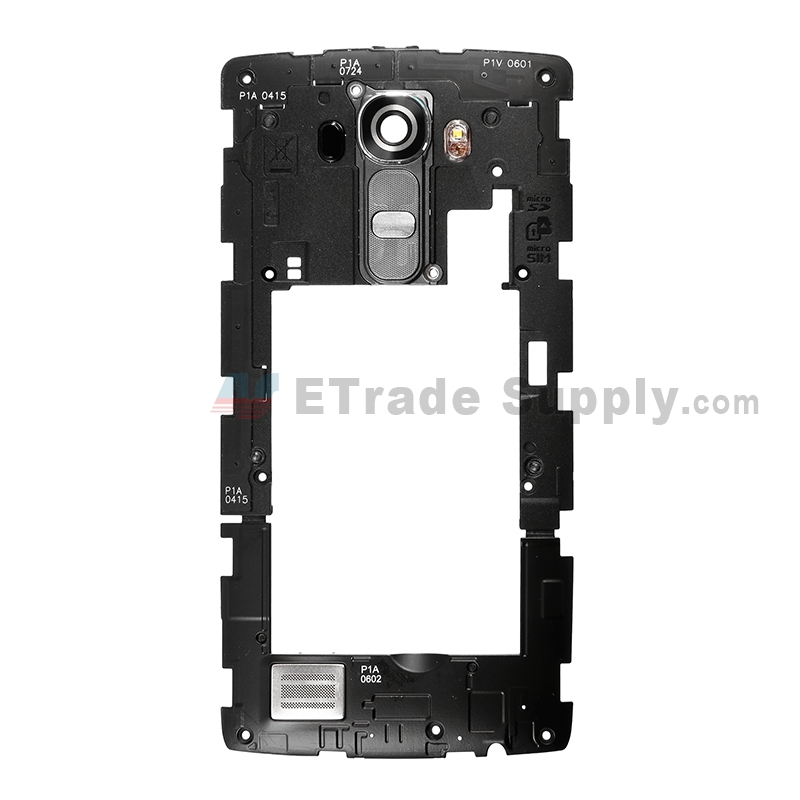 For LG G4 VS986 Rear Housing Assembly Replacement - Black - Grade S+