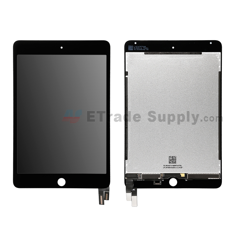 For Apple iPad Mini 4 LCD Screen and Digitizer Assembly Replacement - Black - Grade S+