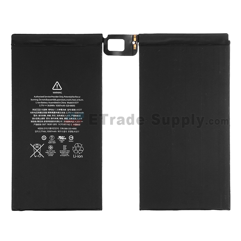 For Apple iPad Pro 12.9 Battery Replacement - Grade S+