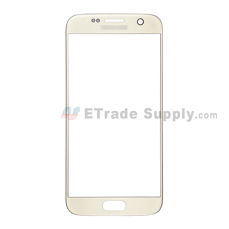 For Samsung Galaxy S7 SM-G930/G930F/G930A/G930V/G930P/G930T/G930R4/G930W8 Glass Lens Replacement - Gold - With Logo - Grade S+