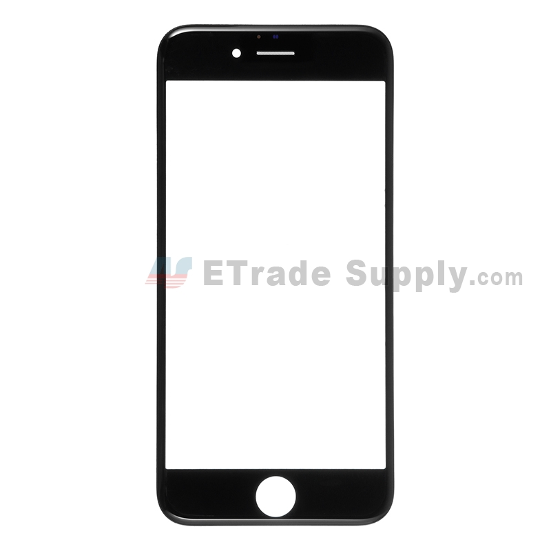 For Apple iPhone 6S Glass Lens with Frame Replacement - Black - Grade S+