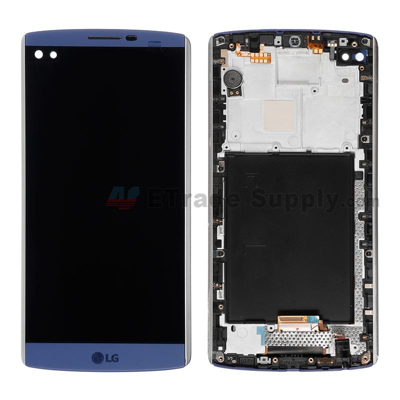 For LG V10 H900/H901 LCD Screen and Digitizer Assembly with Front Housing  Replacement (With Small Parts) - Blue - With Logo - Grade S+