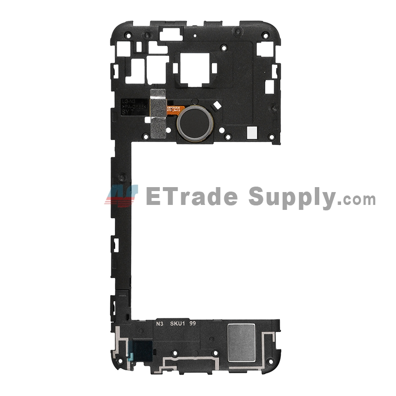 For LG Nexus 5X H790/H791 Rear Housing Replacement (Black Home Button) - Black - Grade S+