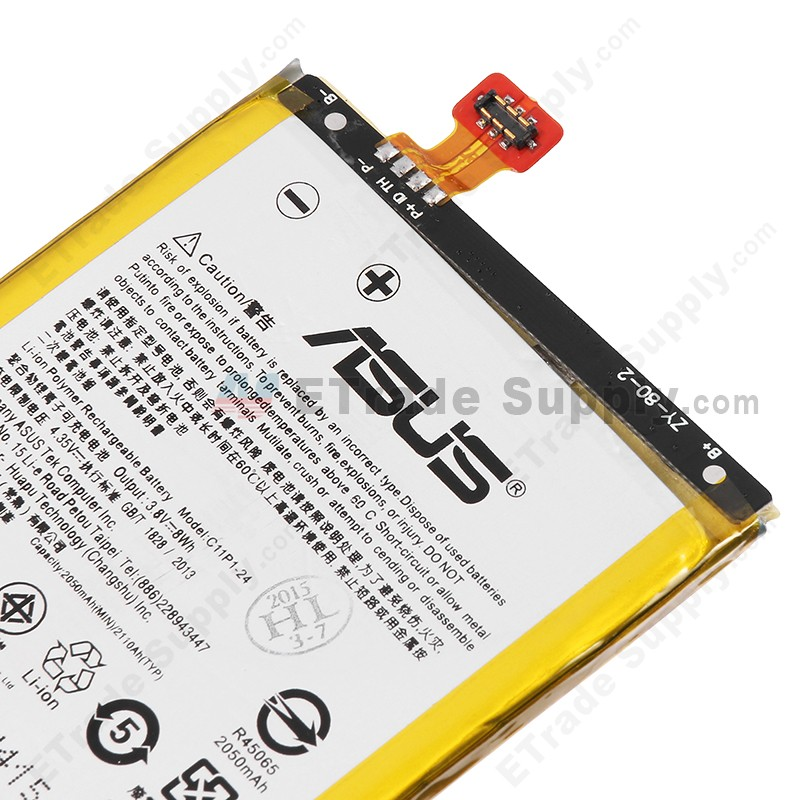 Asus zenfone 5 a500cg battery 2110mah etrade supply this li ion battery replacement is compatible with the asus zenfone 5 only please check your model before ordering sciox Choice Image