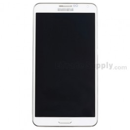 For Samsung Galaxy Note 3 SM-N900V LCD Screen and Digitizer Assembly with  Front Housing Replacement - White - Grade S+