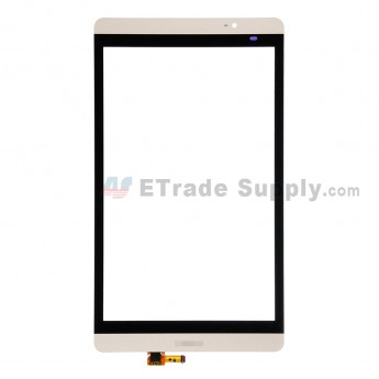 For Huawei MediaPad M2 8.0 Digitizer Touch Screen Replacement - Gold - With Logo - Grade S+