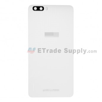 For Huawei Honor 6 Plus Battery Door Replacement - White - With Logo - Grade S+