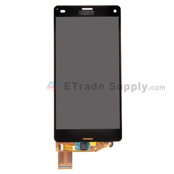 For Sony Xperia Z3 Compact LCD Screen and Digitizer Assembly Replacement - Black - With Logo - Grade R