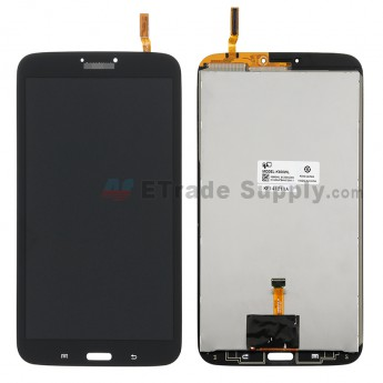 For Samsung Galaxy Tab 3 8.0 Samsung-T310 LCD Screen and Digitizer Assembly Replacement - Black - With Logo - Grade S+