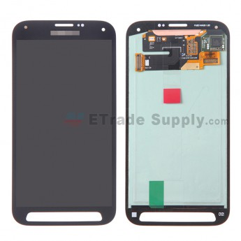 For Samsung Galaxy S5 Sport Samsung-G860P LCD Screen and Digitizer Assembly Replacement - Black - With Logo - Grade S+