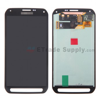For Samsung Galaxy S5 Active SM-G870A LCD Screen and Digitizer Assembly Replacement - Gray - With Logo - Grade S+