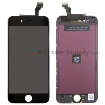 For Apple iPhone 6 LCD Screen and Digitizer Assembly with Frame Replacement - Black - Grade R