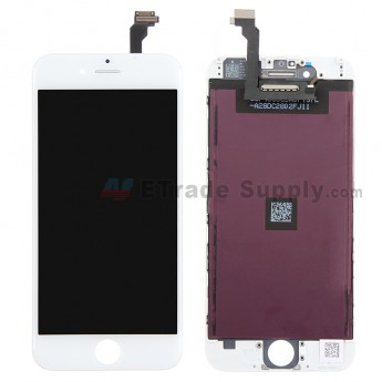 For Apple iPhone 6 LCD Screen and Digitizer Assembly with Frame Replacement (JDF) - White - Grade R