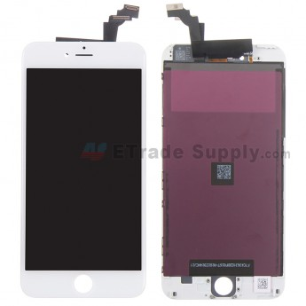 For Apple iPhone 6 Plus LCD Screen and Digitizer Assembly with Frame Replacement (LG) - White - Grade R