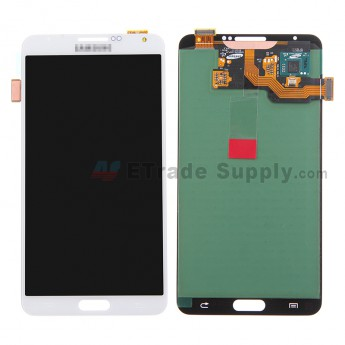 For Samsung Galaxy Note 3 N900/N900T/N900P/N900V/N900R4/N900A/N9005/N9006 LCD Screen and Digitizer Assembly Replacement - White - With Logo - Grade S
