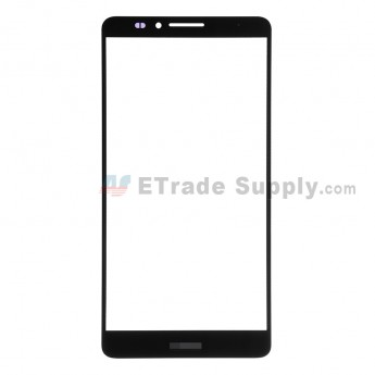 For Huawei Ascend Mate7 Glass Lens Replacement - Black - With Logo - Grade R