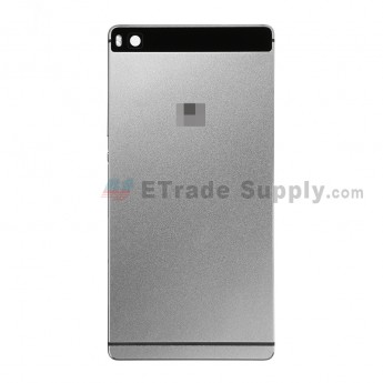 For Huawei P8 Rear Housing Replacement - Gray - With Logo - Grade S+