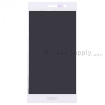For Huawei Ascend P7 LCD Screen and Digitizer Assembly Replacement - White - With Logo - Grade A
