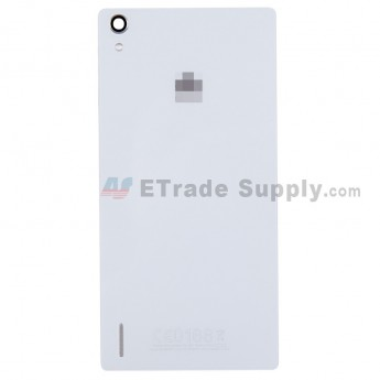 For Huawei Ascend P7 Battery Door Replacement - White - With Logo - Grade S+
