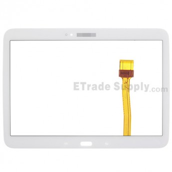 For Samsung Galaxy Tab 3 10.1 GT-P5200 Digitizer Touch Screen Replacement - White - With Logo - Grade S+