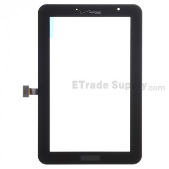 For Samsung Galaxy Tab 2 7.0 I705 Digitizer Touch Screen Replacement - Black - With Logo - Grade S+