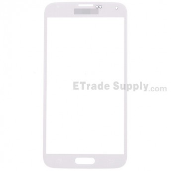 For Samsung Galaxy S5 Samsung-G900 Glass Lens Replacement - White - With Logo - Grade S+