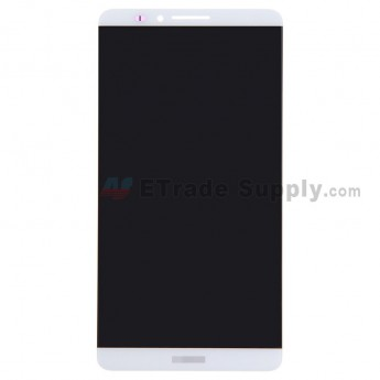 For Huawei Ascend Mate7 LCD Screen and Digitizer Assembly Replacement - White - With Logo - Grade S+