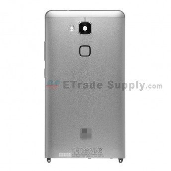For Huawei Ascend Mate7 Rear Housing (With NFC Antenna and Fingerprint Sensor Replacement Flex) - Gray - Grade S+