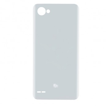 For LG Q6 Battery Door Replacement - Silver Gray - With Q6 Logo - Grade S+