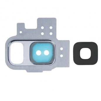 For Samsung Galaxy S9 Series Rear Facing Camera Bezel with Glass Lens Replacement - Blue - Grade S+
