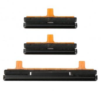 For Samsung S9/S9 Plus Series Side Keys Replacement(3pcs/set) - Black - Grade S+