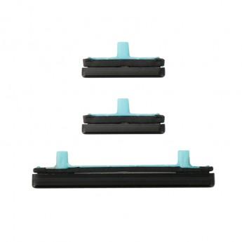 For Samsung Galaxy S8/S8 Plus Series Side Keys Replacement (3pcs/set) - Black - Grade S+