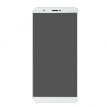 For Huawei P Smart LCD Screen and Digitizer Assembly with Front Housing Replacement - White - With Logo - Grade S+