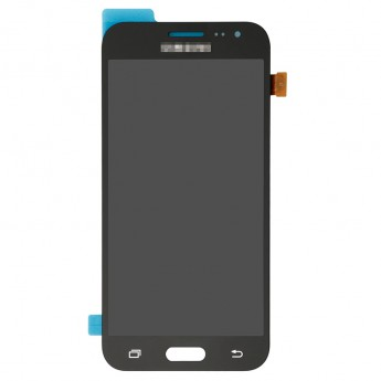 For Samsung Galaxy J2 SM-J200F LCD Screen and Digitizer Assembly Replacement - Black - With Logo - Grade S+