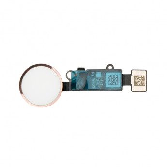 For Apple iPhone 8/8 Plus Home Button Assembly with Flex Cable Ribbon Replacement - Rose Gold - Grade R