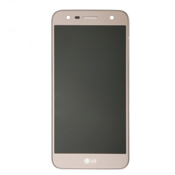 For LG X Power 2 M320G LCD Screen and Digitizer Assembly with Front Housing Replacement - Gold - With Logo - Grade S+