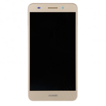 For Huawei Honor 5A LCD Screen and Digitizer Assembly With Front Housing Replacement - Gold - With Logo - Grade S+