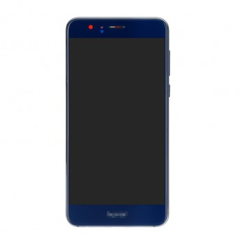 For Huawei Honor 8 LCD Screen and Digitizer Assembly with Front Housing Replacement - Blue - With Logo - Grade S+