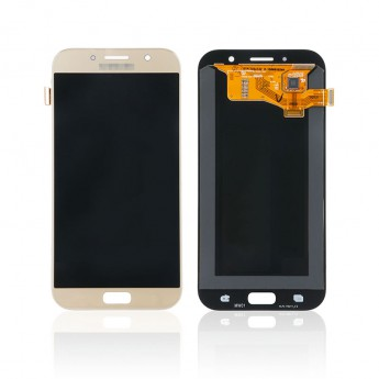 For Samsung Galaxy A7 (2017) SM-A720 LCD Screen and Digitizer Assembly Replacement - Gold - With Logo - Grade S