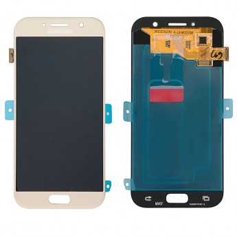 For Samsung Galaxy A5 2017 SM-A520 LCD Screen and Digitizer Assembly Replacement - Gold - With Logo - Grade S