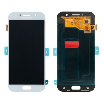 For Samsung Galaxy A5 2017 SM-A520 LCD Screen and Digitizer Assembly Replacement - Blue Mist - With Logo - Grade S