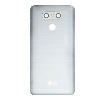 For LG G6 H871/H872/AS993/LS993 Battery Door with Camera Lens and Bezel Replacement - Silver Gray - With Logo - Grade S+