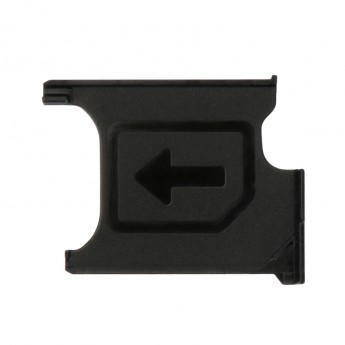 For Sony Xperia Z1 L39h SIM Card Tray Replacement - Black - Grade S+