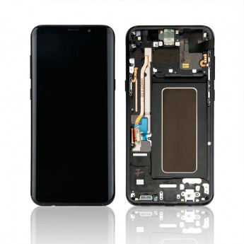 For Samsung Galaxy S8 Plus Series LCD Screen and Digitizer Assembly with Front Housing Replacement - Black - Without Logo - Grade S