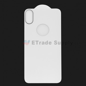 For Apple iPhone X Rear Housing Tempered Glass Screen Protector - White - Grade R